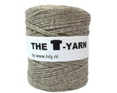 The t-shirt yarn 120-135 yards, 100% recycled cotton tricot yarn, sporty 205