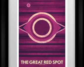 Space Travel Poster - Jupiter - The Great Red Spot