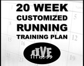 Customized 20 week running training plan - training program for races, base miles, PRs, etc