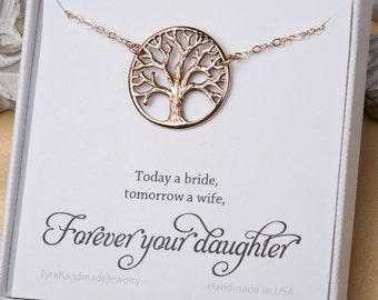 Mother of the Groom gift,Gift for mother in law from bride,mother of the groom,family tree necklace,necklace for mother of groom,custom note