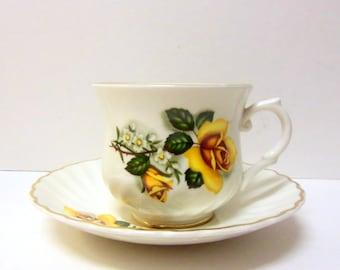 Old Foley Yellow Rose Teacup & Saucer set