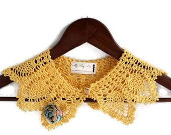 Crochet Necklace - Crochet Collar - Detachable Collar - Necklace - Statement Necklace - Vegan Necklace - Vegan Jewelry - Crochet Jewelry