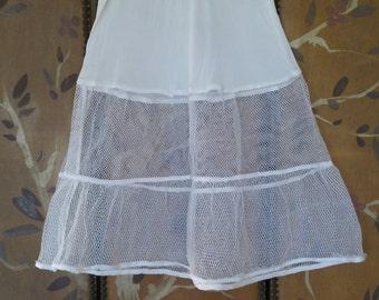 60s girls white net underskirt