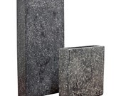 2 Piece Set of Charcoal Vases