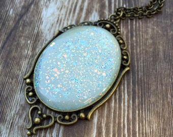Moondrop Amulet Necklace: Bringer of Light in Dark Places