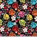 Lovely Ladybugs on Black from Robert Kaufman