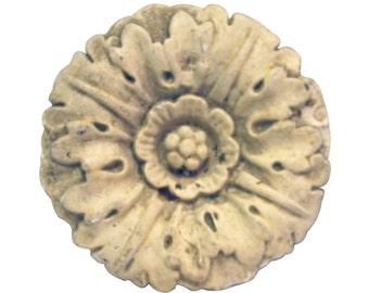 Plaster carved floral decoration