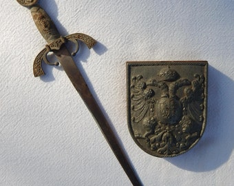 Toledo Spain Sword Letter Opener & Paperweight Office Accessories Collectibles