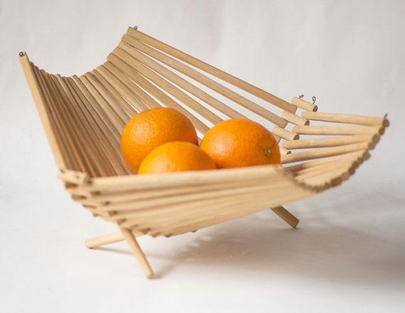 Handmade Collapsible Wooden Baskets : Soviet collapsible basket wooden fruit modern kitchen