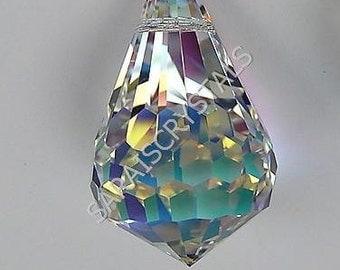 BIG Swarovski 6005 Pear Pendant 25X17mm Crystal Clear AB