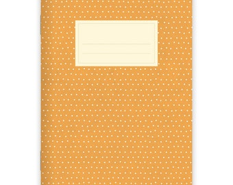 Notebook Stapled A5 Dots Orange