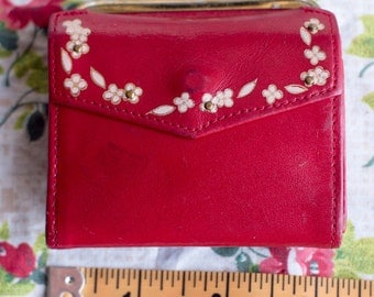 Little Red Coin Purse 1980's