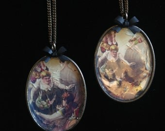 The Circus Vintage Poster Resin Pendant Necklace