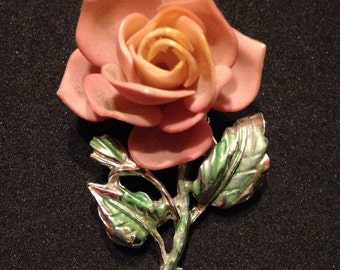 Vintage Rose Brooch