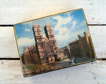 London Westminster Abbey Tin Vintage M.A.Craven & Sons French Almond Works York