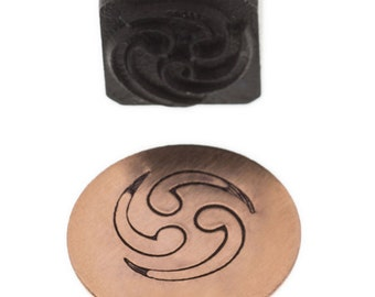 DESIGN STAMP- Triple WAVE - Elite Jumbo 10mm - Create Charms, Decorate Necklaces Bracelets Earrings Metal Stamping