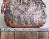 Judith Leiber / Judith Leiber Purse / Judith Leiber Bag / 70s Bag / Designer Bag / Logo Bag / Fabric Leather / Neutrals / Jackie O