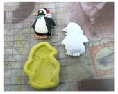 Silicone mold , push mold , food supplies mold , clay supplies molds , penguin mold - mold    # 41 s