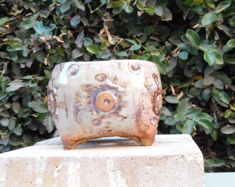 Shino Symbol Textured Ceramic Planter (Small)