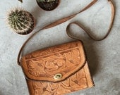 Bohemian Tooled Leather Bag