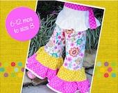 Brianna's Twirly Ruffle Pants and Capris PDF Pattern sizes 6/12 months to 8 girls