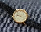 Vintage Gruen Precision Quartz Womens watch Coin watch