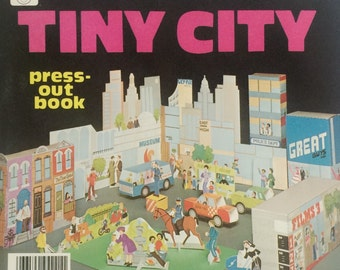 Whitman Tiny City Press-Out Book, 1980 - NOS, Unused