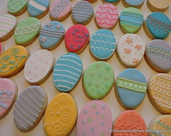 Small Decorated Easter Egg cookies (#2422)
