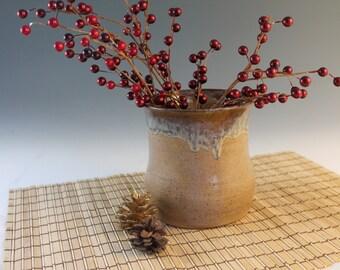 Utensil Holder - Pottery vase - brown - rustic