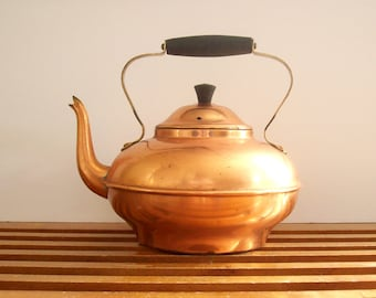 Copper Kettle, Vintage, Tea Kettle, Teapot, Copral Portugal, Tea Pot, Coffee Pot, Retro Copper Kitchen Decor