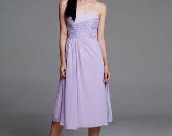 On Sale Size XXS Light Purple Wedding dress party dress bridesmaid dress - NC639-3