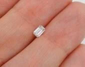 Emerald Cut Natural Genuine .24 ct LOOSE Diamond E VS2 Engagement Solitaire Ring