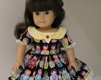 Nesting Dolls dress for 18 inch doll