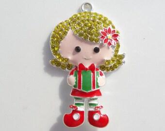 Christmas Gift Rhinestone Pendant, P5