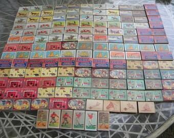 140 vintage OHIO BLUE TIP match boxes matchbox matches lot
