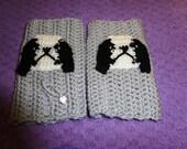 japanese chin crochet fingerless mittens