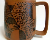 Vintage Art Mug, Norwegian Design Style, Unsigned