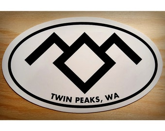 Twin Peaks Sticker, Black Lodge 4x3