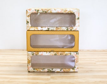 Vintage Hat Boxes for Closet Storage / Organization, 1940's Florals