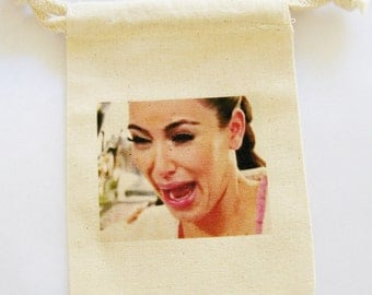 Custom Offer for HAY,   Ugly Cry Gift, Custom Handkerchief, no ugly crying party favor, wedding gift, keenex holder