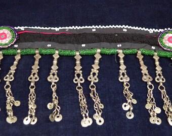 Vintage Afghanistan Kuchi Embroidered Kabul Key Choker Boho Gypsy Tribal Dance Costume Supply Uber Kuchi®