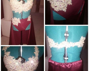 Made to Order Custom Dance Bling Glitz Pageant Talent Costume Jazz Lyrical Costume