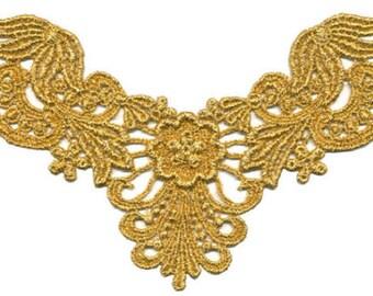 Venise Applique, 6 x 4+1/4 inch gold color