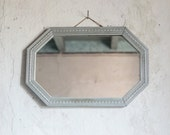 Antique French Mirror // Art Deco Hanging Mirror // Vintage Wall Decor