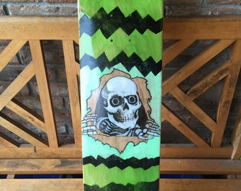 7-ply Canadian maple Skateboard - with Inked pencil drawing.