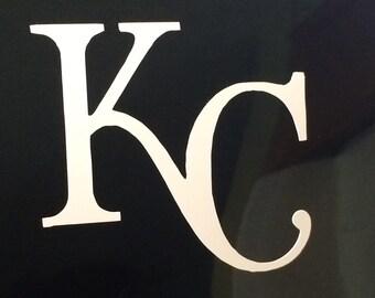 KC car window decal, royals baseball, kansas city.