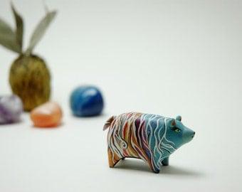 Multicolor Wave Bear Figurine