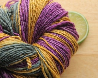 Mardi Gras - Handspun Yarn Wool Merino Silk DK Weight