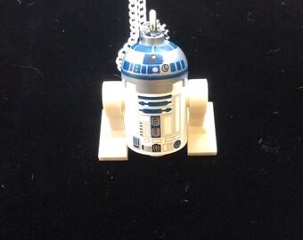 R2D2 Lego Mini-fig Necklace