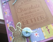 Chocolate Handmade Card, Easter Card, Handmade Easter Card, All Occasion Card, Blank Handmade Card, Chocolate Lover Card